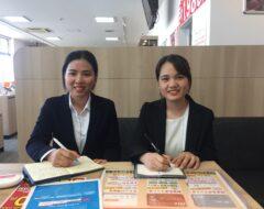 ベトナムよりauショップ柳川店に入社いたしました。(通信事業部)